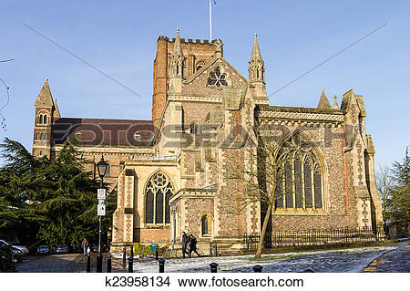Stock Photo of Cathedral and Abbey Church in St.Albans, UK.