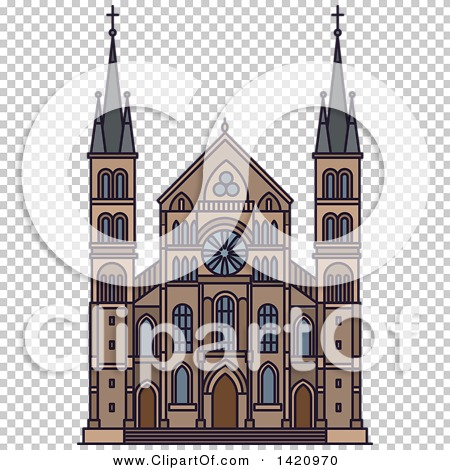 Clipart of a French Landmark, Abbey of Saint.