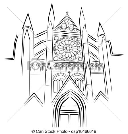 Vector Clip Art of Westminster Abbey.