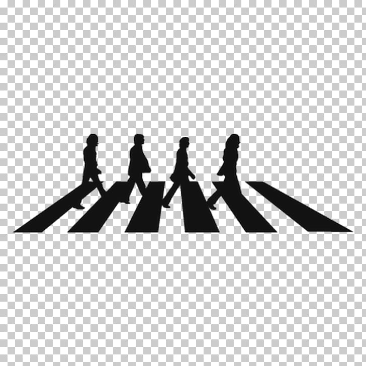Abbey Road The Beatles Stencil Mural Wall decal, Silhouette.