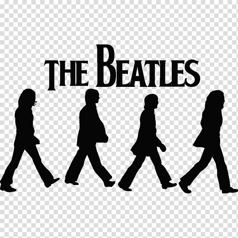 The Beatles poster, The Beatles Silhouettes on Abbey Road.