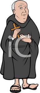 Friar Holding a Cross.