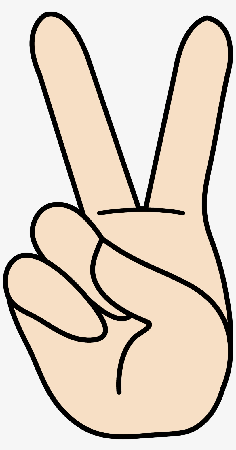 2 finger hand signal clipart clipart images gallery for free.