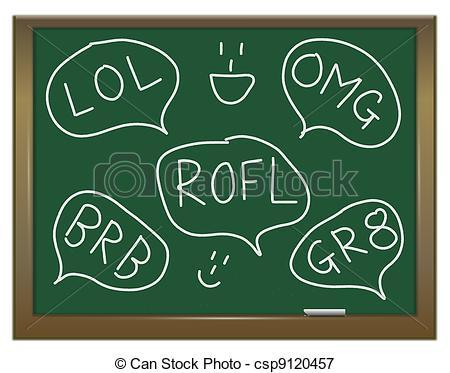 Stock Illustrations of Text abbreviations..