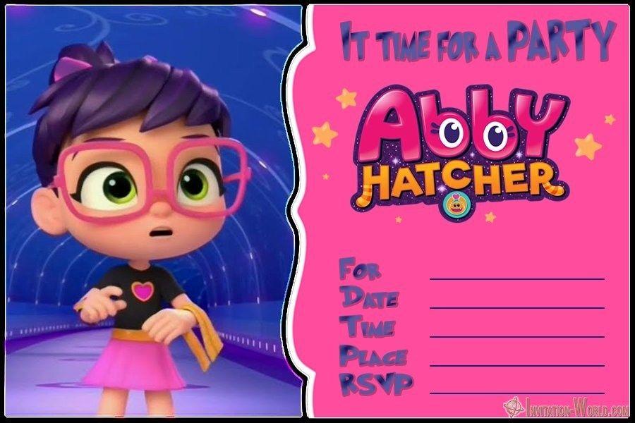 Abby Hatcher Invitation Templates.