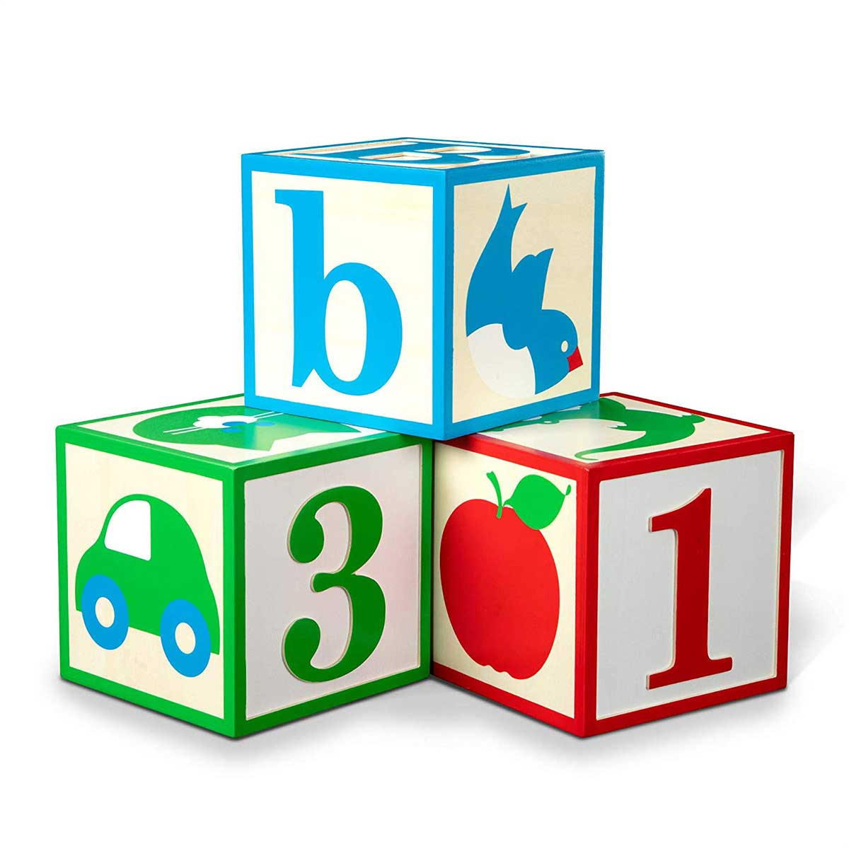Wooden Jumbo ABC/123 Blocks.