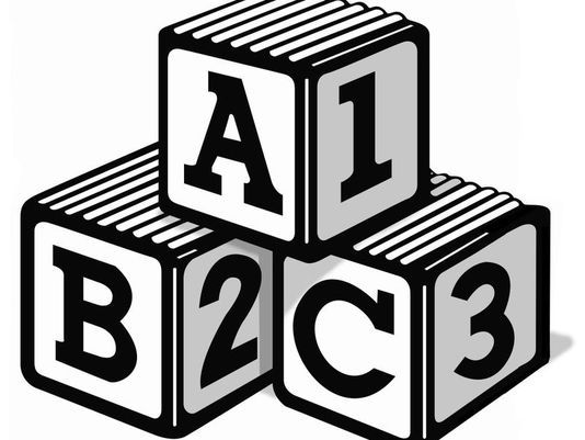 Abc blocks 9 clip art images on clipart black and.