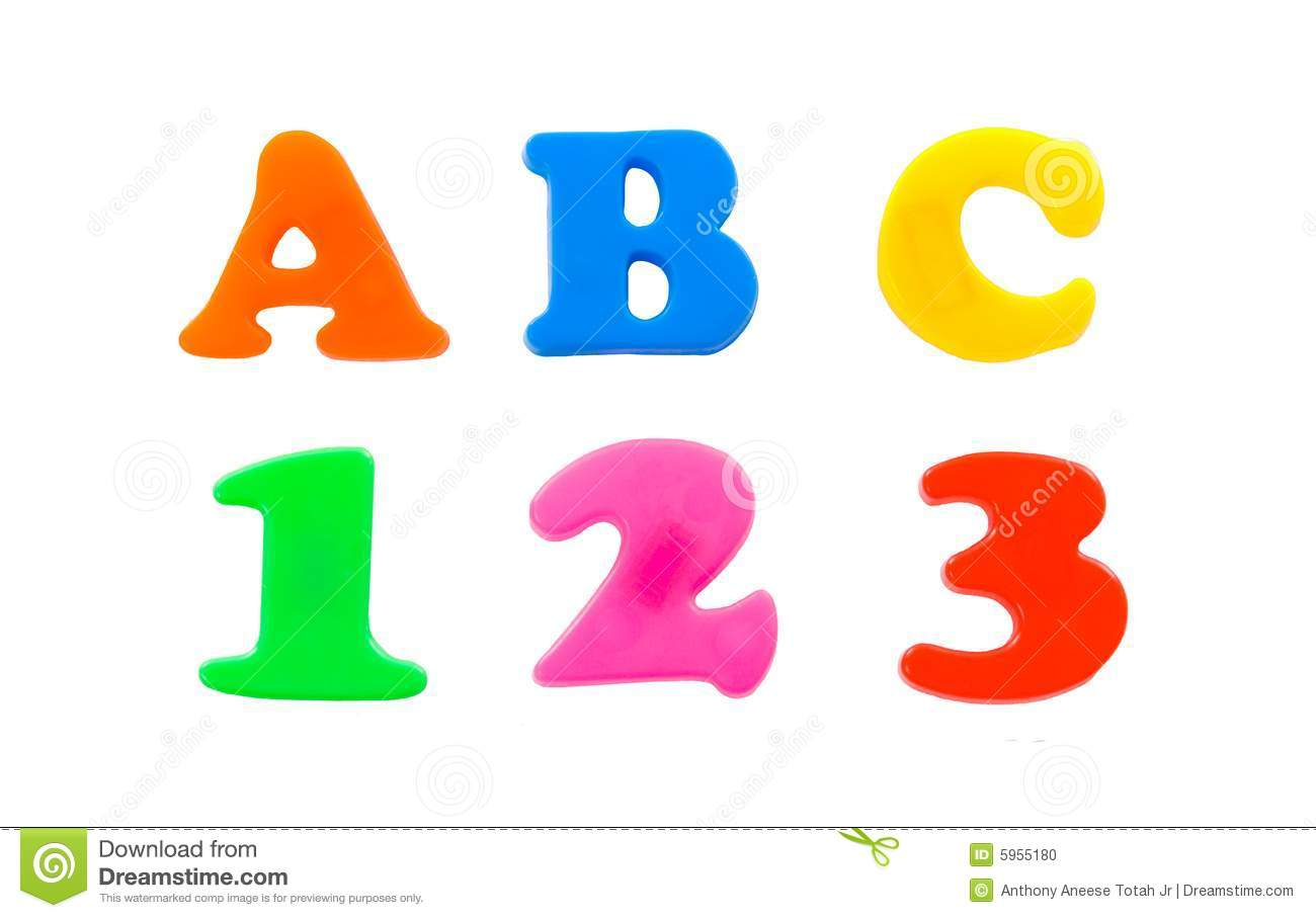 ABC 123 stock photo. Image of plastic, magnet, letter.