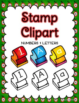 Stamp Clipart: Letters and Numbers.