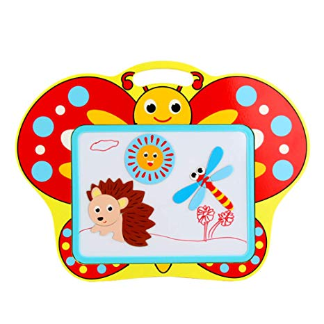 GEDIAO Wooden Puzzles Magnetic Letters/Numbers/Animals Set.