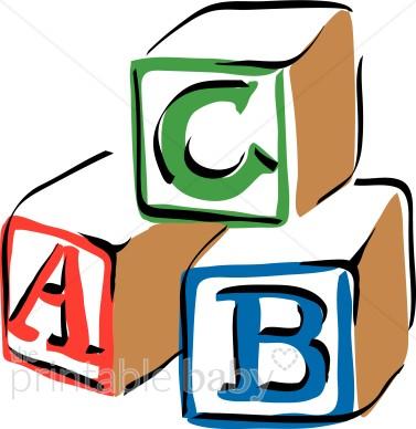 Colorful ABC Blocks Clipart.