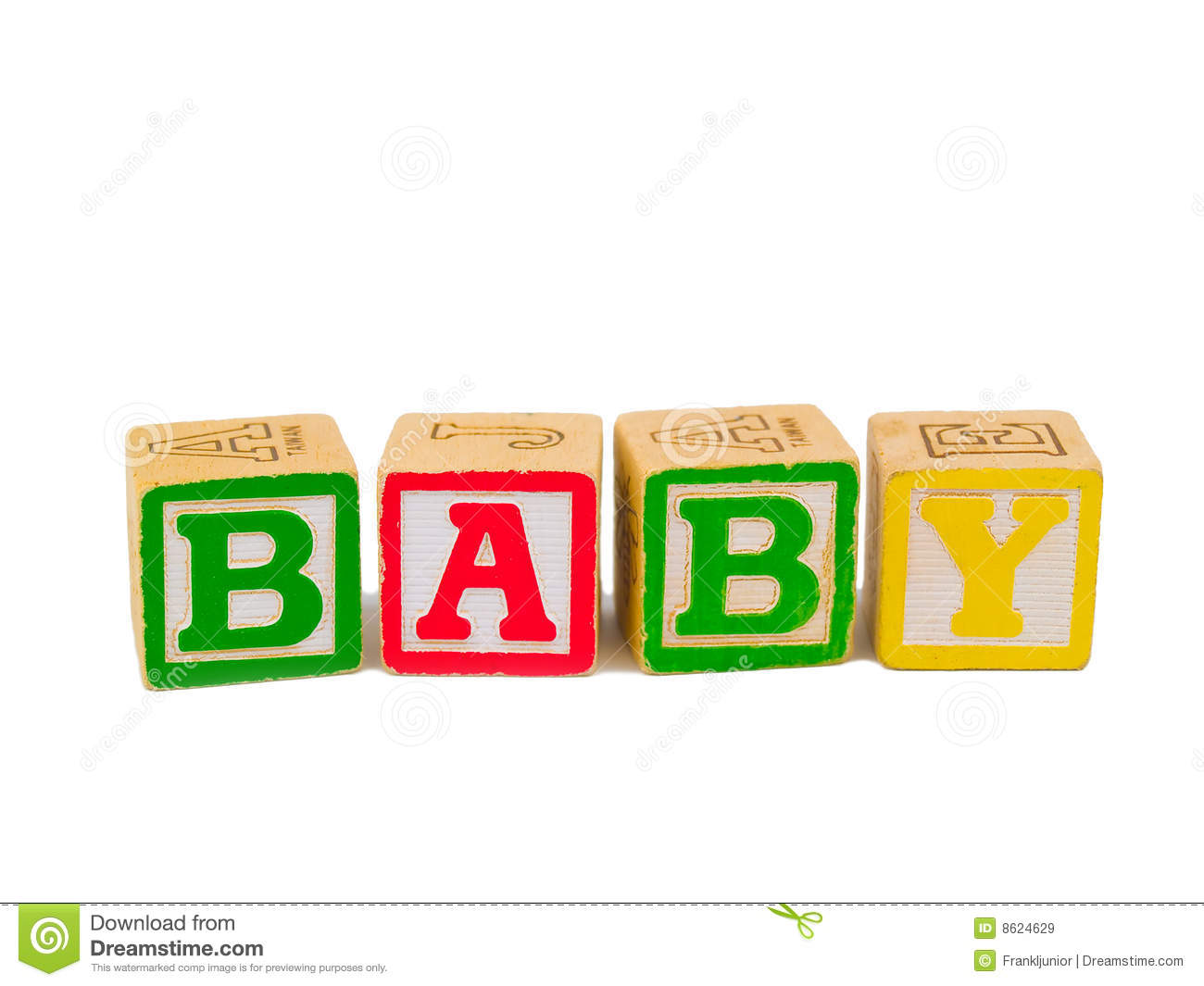Word Baby Blocks Clipart.
