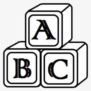 Free Block Black And White Clip Art with No Background.