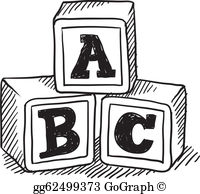 Abc Blocks Clip Art.