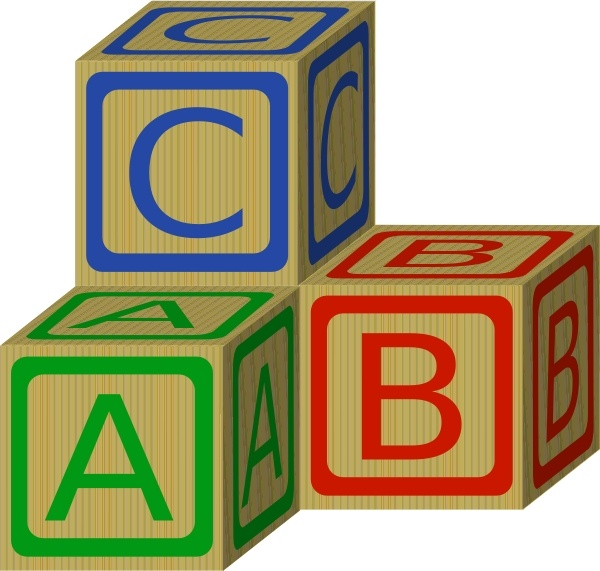 Abc Blocks clip art Free vector in Open office drawing svg ( .svg.