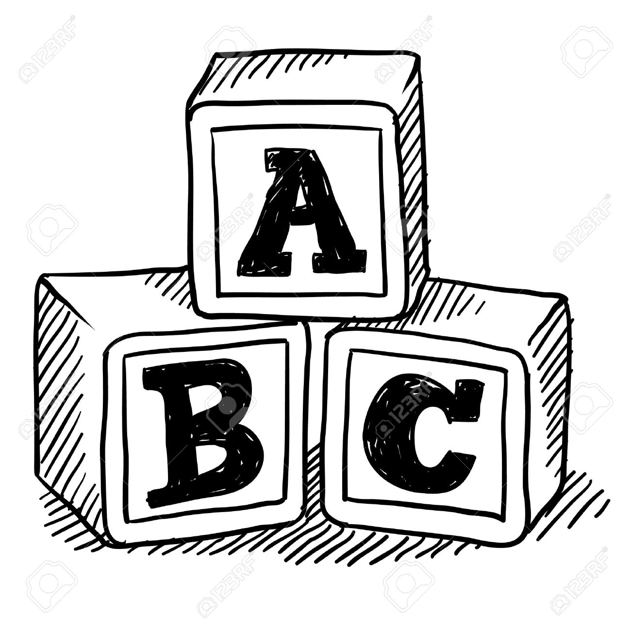 56+ Abc Blocks Clipart.