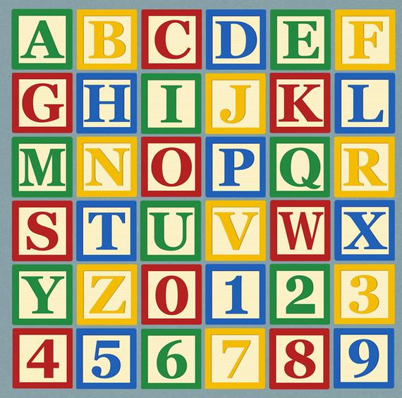 Alphabet Blocks Clipart, ABC Blocks Letter Clip art, ABC children's block  letter Clipart, Commercial Use, toy learning block letters clipart.