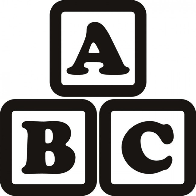 Abc blocks clipart black and white clip art library 3.