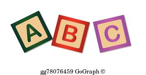 Abc Blocks Clip Art.
