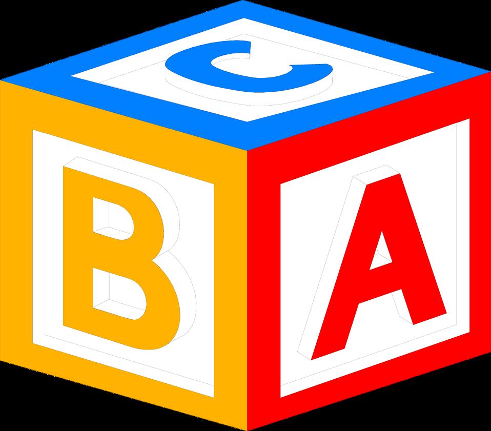Baby Block Alphabet Letters Clipart.