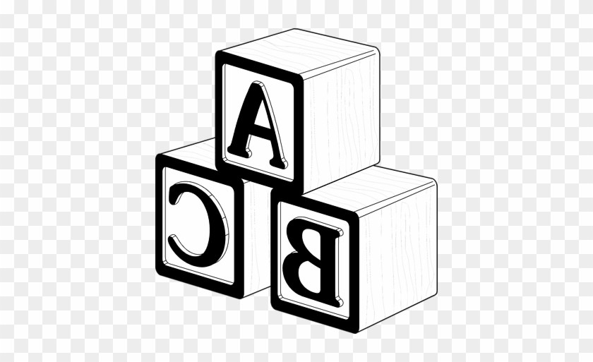 Abc blocks clipart black and white 2 » Clipart Portal.