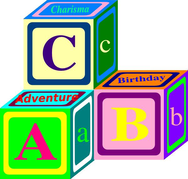 ABC Blocks Clipart Free.