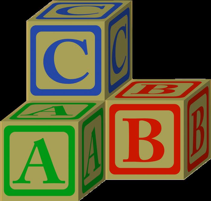 Abc Alphabet Blocks Toy Vector, Clipart, PSD.