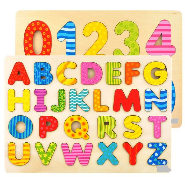 Candice guo! educational wooden toy baby gift alphabet.
