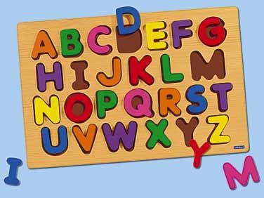 Giant Wooden Alphabet Puzzle Uppercase.