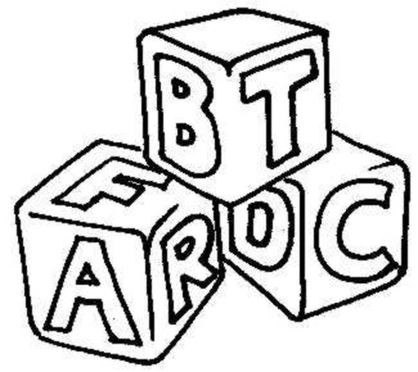 Abc Building Blocks Clipart.