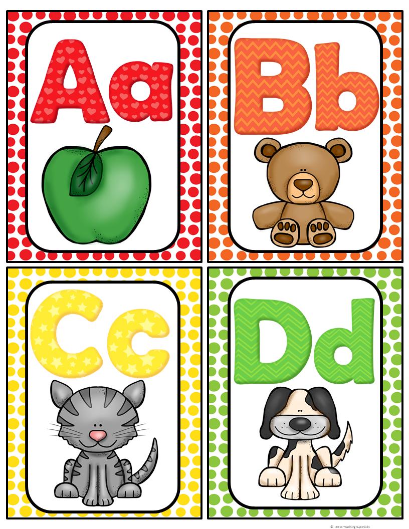 Alphabet Word Wall Cards & ABC Chart.