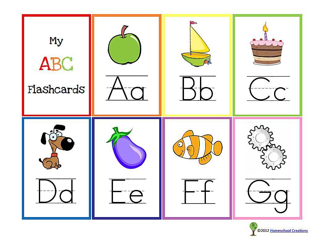 10 Sets of Free, Printable Alphabet Flashcards.