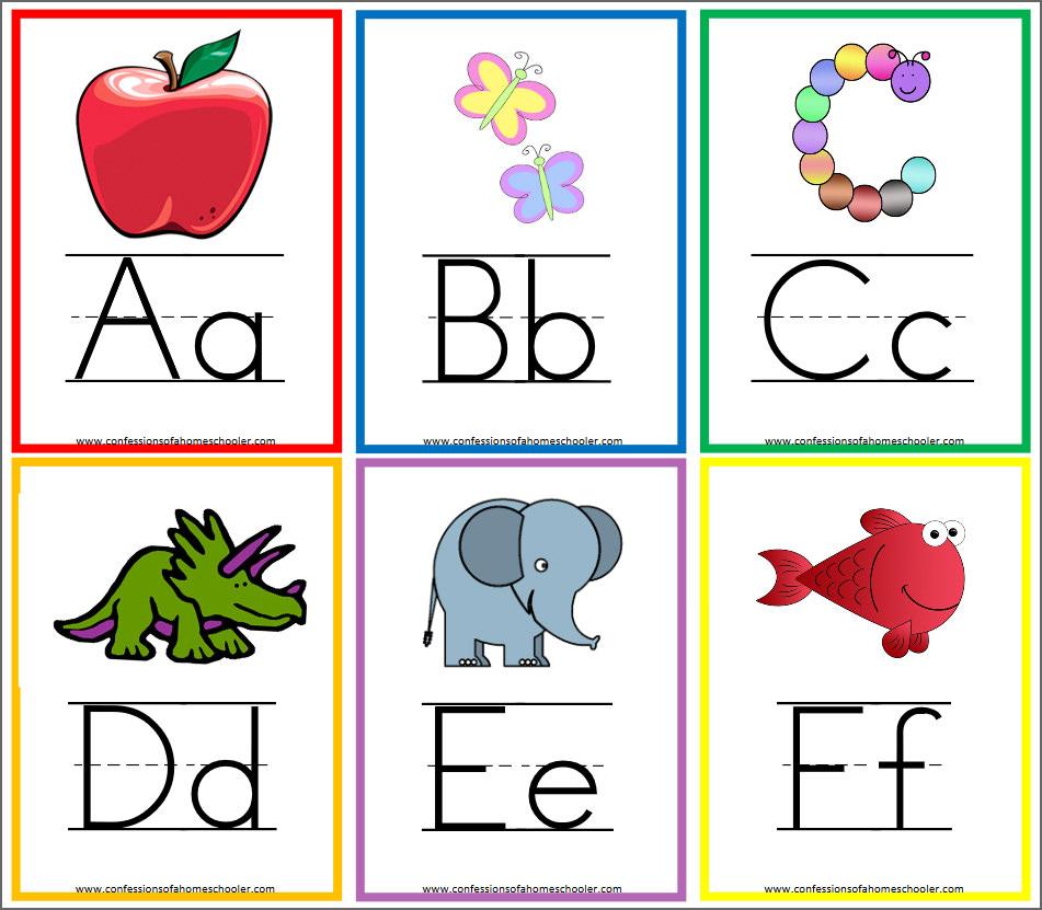 8 Free Printable Educational Alphabet Flashcards For Kids.