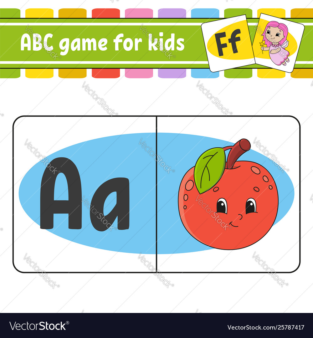 Abc flash cards alphabet for kids learning.