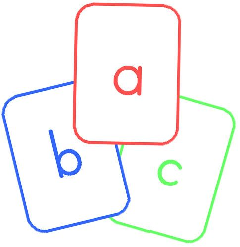 free printable upper and lowercase alphabet cards.