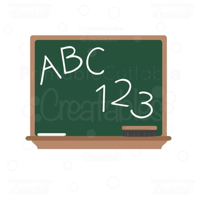 ABC Chalkboard SVG Cut File & Clipart.