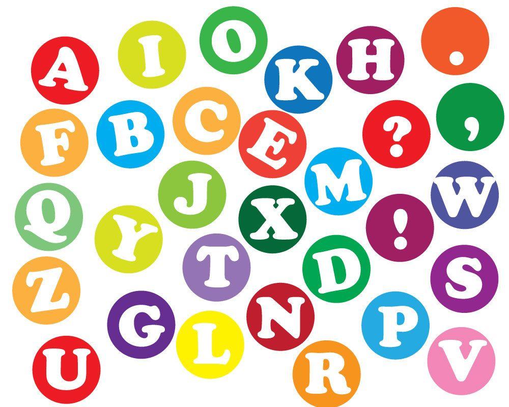 Instant download Alphabet letters Clip art, Scrapbooking letters.