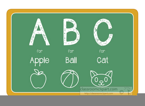 Abc Chalkboard Clipart.