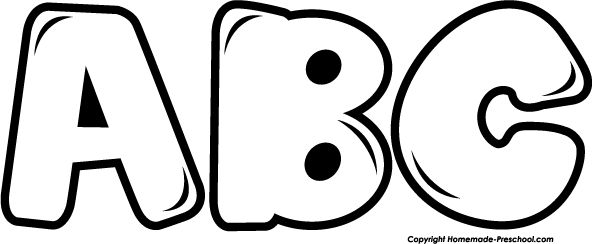 Abc Clipart Black And White.