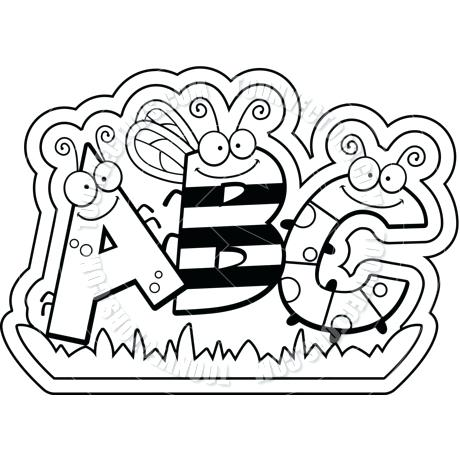 Abc clipart black and white 1 » Clipart Station.