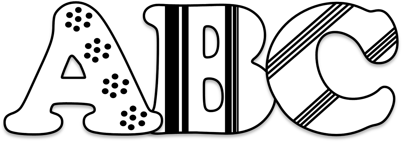 Download Picture Royalty Free Download Abc Blocks Clipart Black.