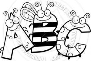 Abc clipart black and white 6 » Clipart Portal.