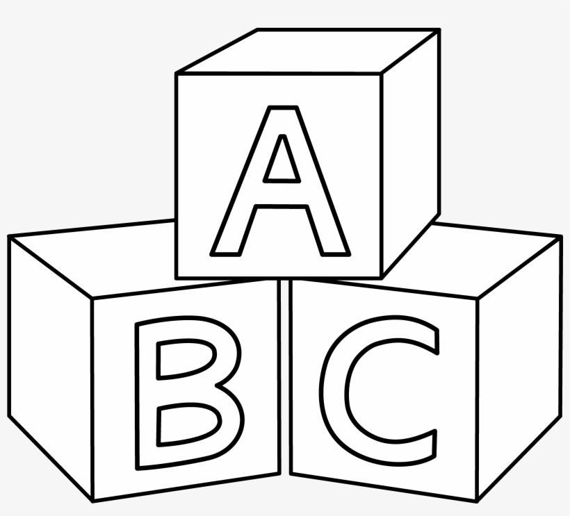 Abc Blocks Coloring Page.