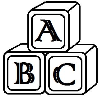 Abc blocks clipart black and white free 5 clipartandscrap.