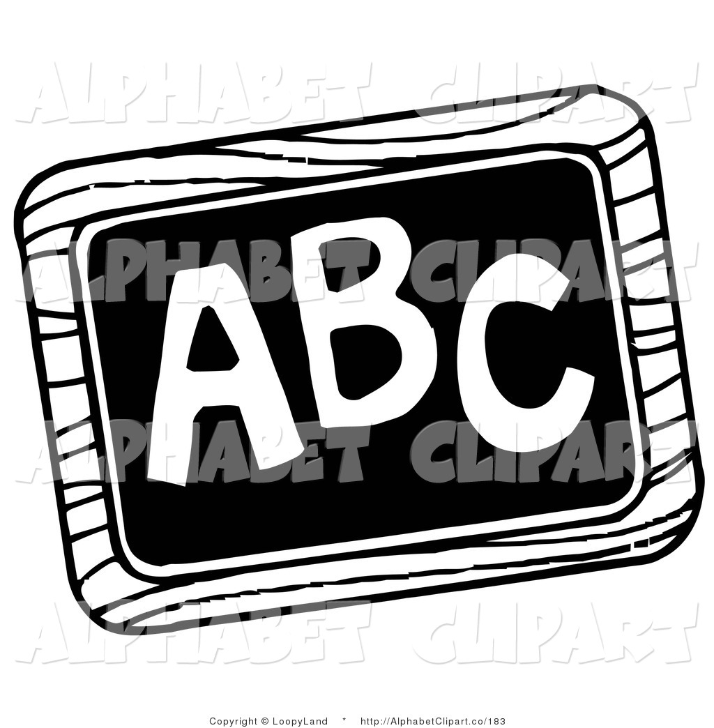 Abc Clip Art Black And White.