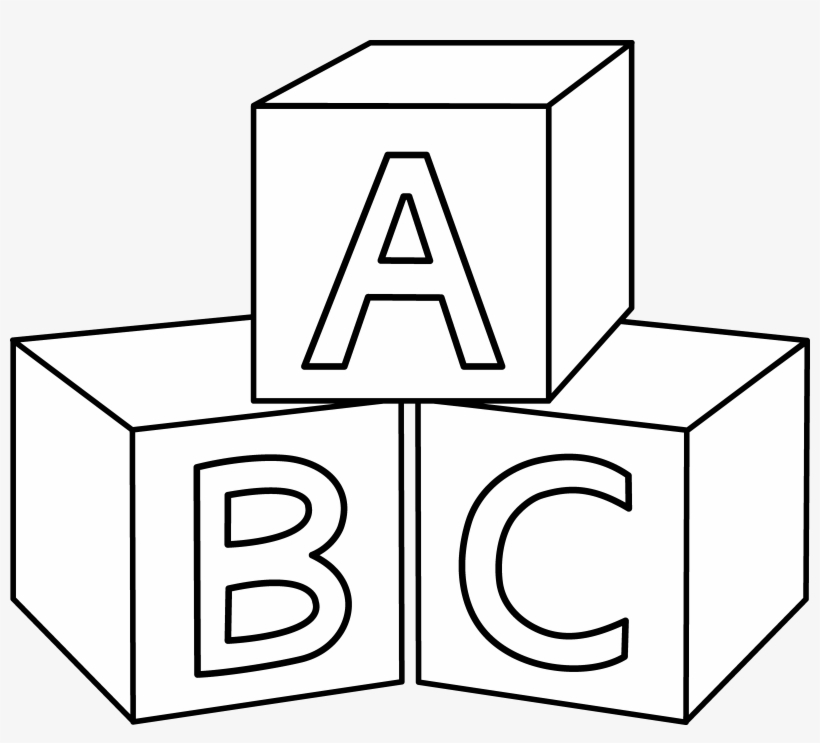 Abc Blocks Coloring Page.