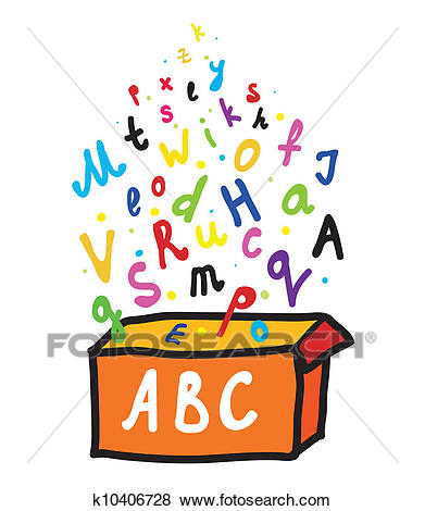 Abc letters from the box Clip Art.