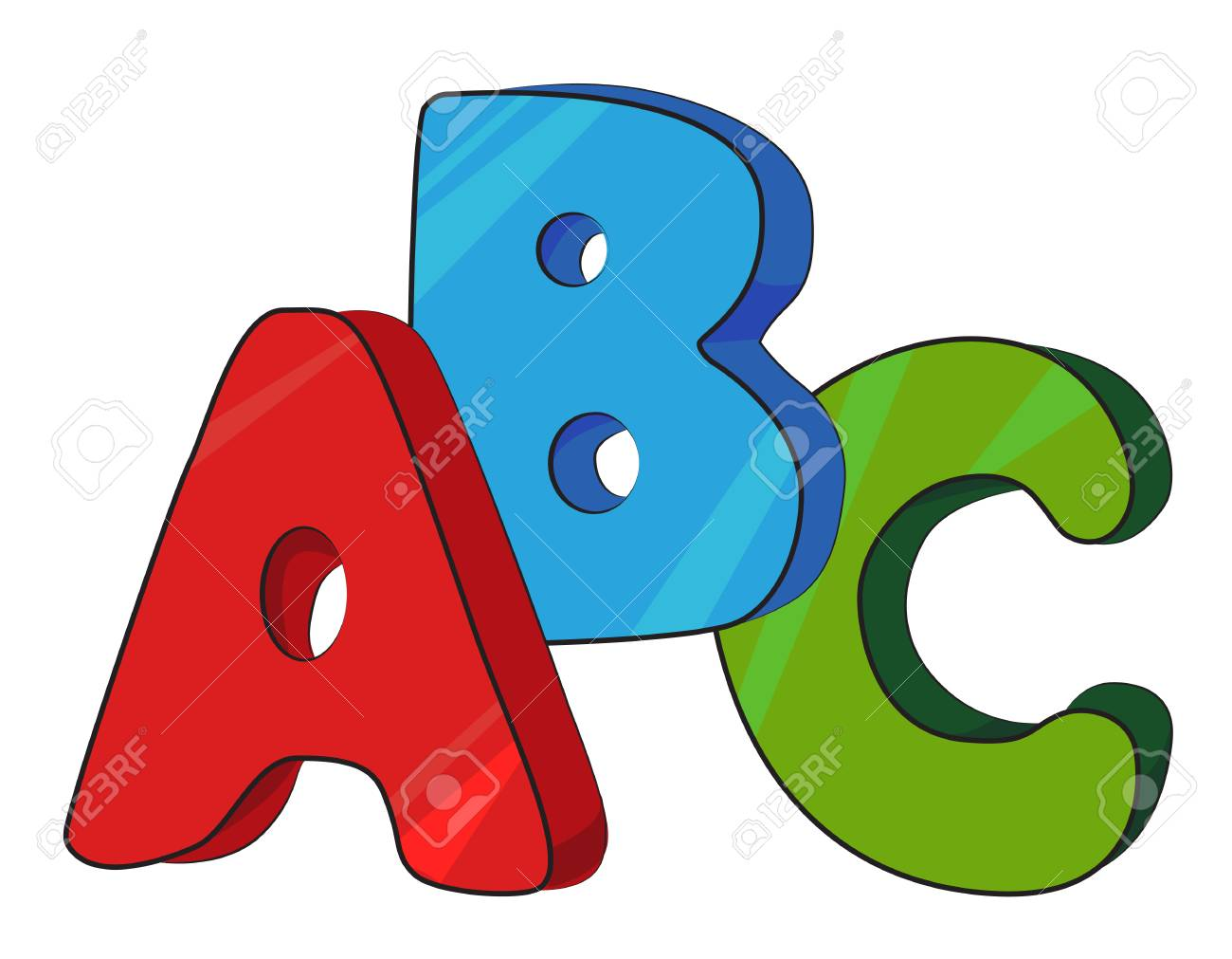 Cartoon image of ABC letters.