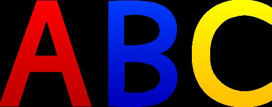 ABC Alphabet Letters.