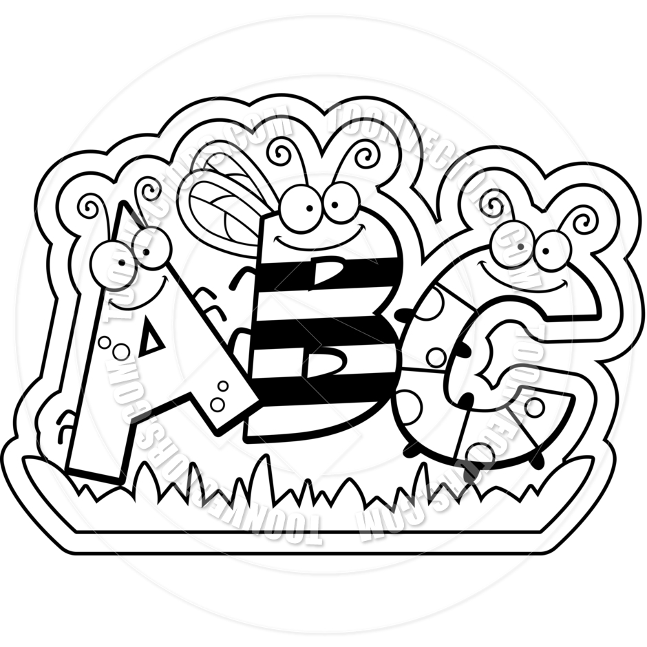Black And White Abc Clipart.